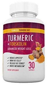 Turmeric Forskolin Supplement Bottle