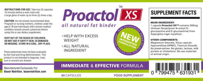 Proactolxs ingredients