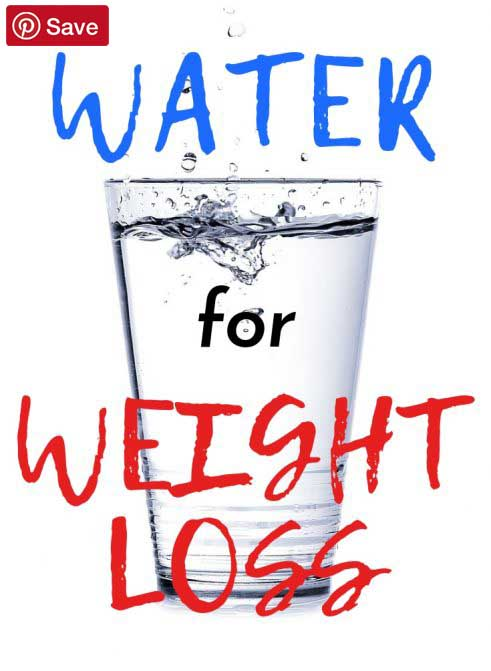 water for weight loss pinterest